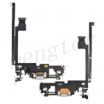 Charging Port with Flex Cable for iPhone 12 Pro Max (6.7 inches)(Super High Quality) - Silver