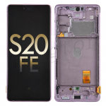 OLED Screen Digitizer Assembly with Frame for Samsung Galaxy S20 FE G780 (Service Pack) - Cloud Lavender