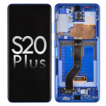 OLED Screen Digitizer with Frame Replacement for Samsung Galaxy S20 Plus G985/ S20 Plus 5G G986 - Aura Blue