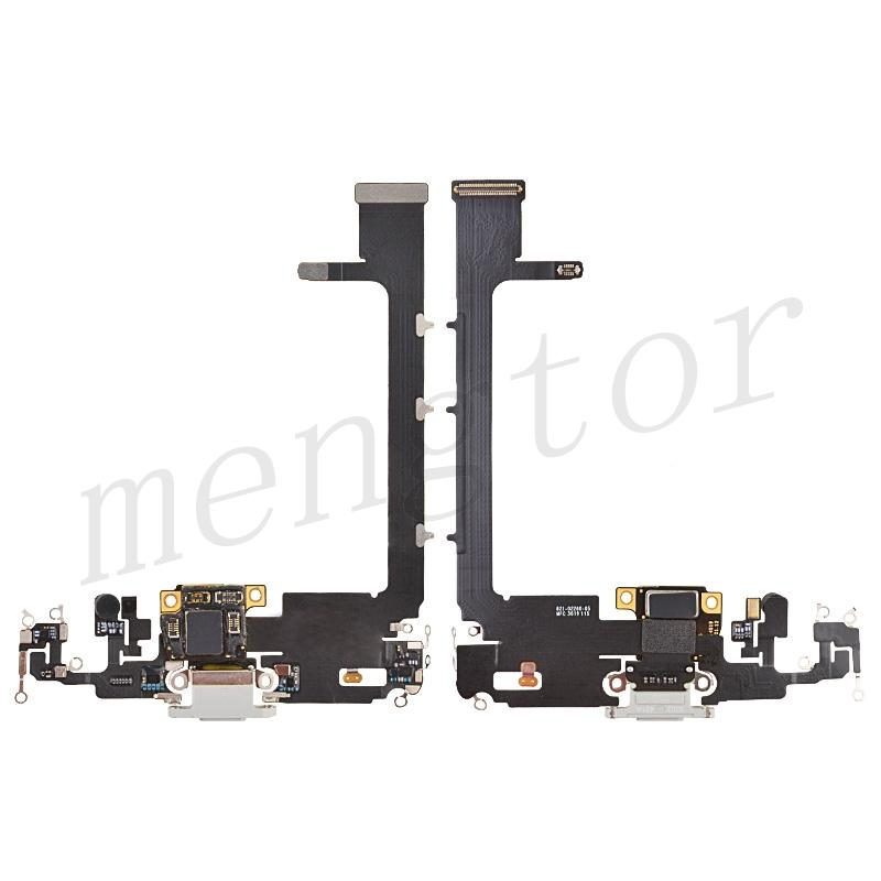 Charging Port Flex Cable with Interconnect Board for iPhone 11 Pro Max(6.5 inches)(High Quality) - Silver