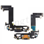 Charging Port with Flex Cable for iPhone 12 mini (5.4 inches) (Super High Quality) - Black
