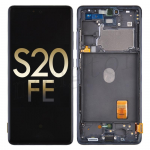 OLED Screen Digitizer Assembly with Frame for Samsung Galaxy S20 FE G780 (Service Pack) - Cloud Navy