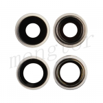 Rear Camera Glass Lens and Cover Bezel Ring for iPhone 12/ 12 Mini (2 Pcs/set) - White