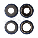 Rear Camera Glass Lens and Cover Bezel Ring for iPhone 12/ 12 Mini (2 Pcs/set) - Blue