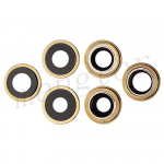 Rear Camera Glass Lens and Cover Bezel Ring for iPhone 12 Pro Max (3 Pcs/set) - Gold