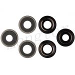Rear Camera Glass Lens and Cover Bezel Ring for iPhone 12 Pro Max (3 Pcs/set) - Graphite