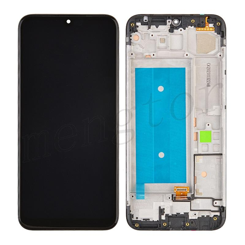 LCD Screen Digitizer Assembly with Frame for LG Harmony 4 K400 - Black