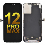 OLED Screen Digitizer Assembly With Frame for iPhone 12 Pro Max (6.7 inches) (Super High Quality) - Black
