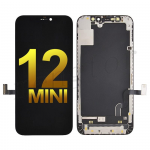 OLED Screen Digitizer Assembly With Frame for iPhone 12 mini (5.4 inches) (Super High Quality) - Black